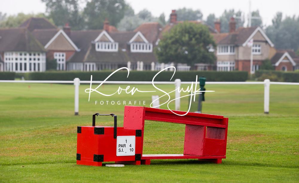 SANDWICH (GB) - Startvolgorde, teebox. The Royal St. George's Golf Club (1887), één van de oudste en meest beroemde golfclubs in Engeland. COPYRIGHT KOEN SUYK