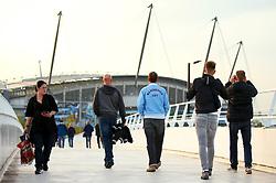 Manchester City fans outside the Etihad Stadium - Mandatory by-line: Matt McNulty/JMP - 26/09/2017 - FOOTBALL - Etihad Stadium - Manchester, England - Manchester City v Shakhtar Donetsk - UEFA Champions League Group stage - Group F