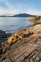 View of san Juan Islands from Washington Park Anacortes Washington