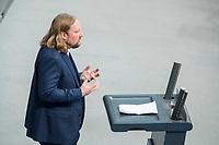 21 MAR 2019, BERLIN/GERMANY:<br /> Anton Hofreiter, B90/Gruene Fraktionsvorsitzender, haelt eine Rede, Bundestagsdebatte zur Regierungserklaerung der Bundeskanzlerin zum Europaeischen Rat, Plenum, Deutscher Bundestag<br /> IMAGE: 20190321-01-096