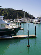 View of Tutukaka Harbor from a moored boat.