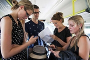 Dan and Emma on the left have missed their plane to China and are desperate to find alternative flights and Lucy and Becky have missed their plane to Barcelona. All are furious and upset and try to find alternative routes.  A First Capital Connect train breaks down outside London Bridge. The train and passengers are stuck for two and half hours before the passengers are transferred onto another train and taken to East Croydon. Many of the passengers are travellers heading to Gatwick Airport and they all miss their planes.