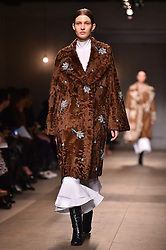 Models on the catwalk during the Erdem Autumn/Winter 2017 London Fashion Week show at the Old Selfridge's Hotel, London.PRESS ASSOCIATION Photo. Picture date: Monday February 20th, 2017. Photo credit should read: Matt Crossick/PA Wire.