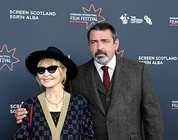 Edinburgh International Film Festival 2019<br /> <br /> Robert The Bruce (World Premiere)<br /> <br /> Pictured: Lulu and Angus Macfadyen<br /> <br /> Aimee Todd   Edinburgh Elite media