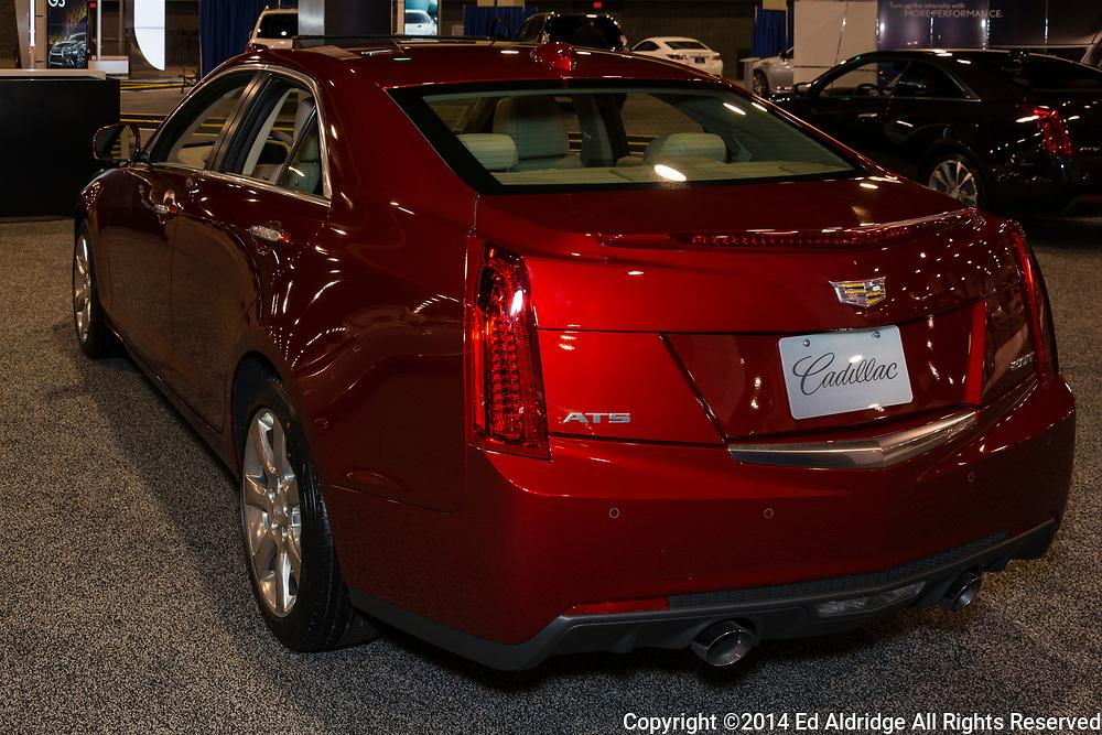 CHARLOTTE, NORTH CAROLINA - NOVEMBER 20, 2014: Cadillac ATS sedan on display during the 2014 Charlotte International Auto Show at the Charlotte Convention Center.