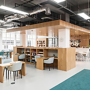 A modern business workplace office interior, photographer in central London.