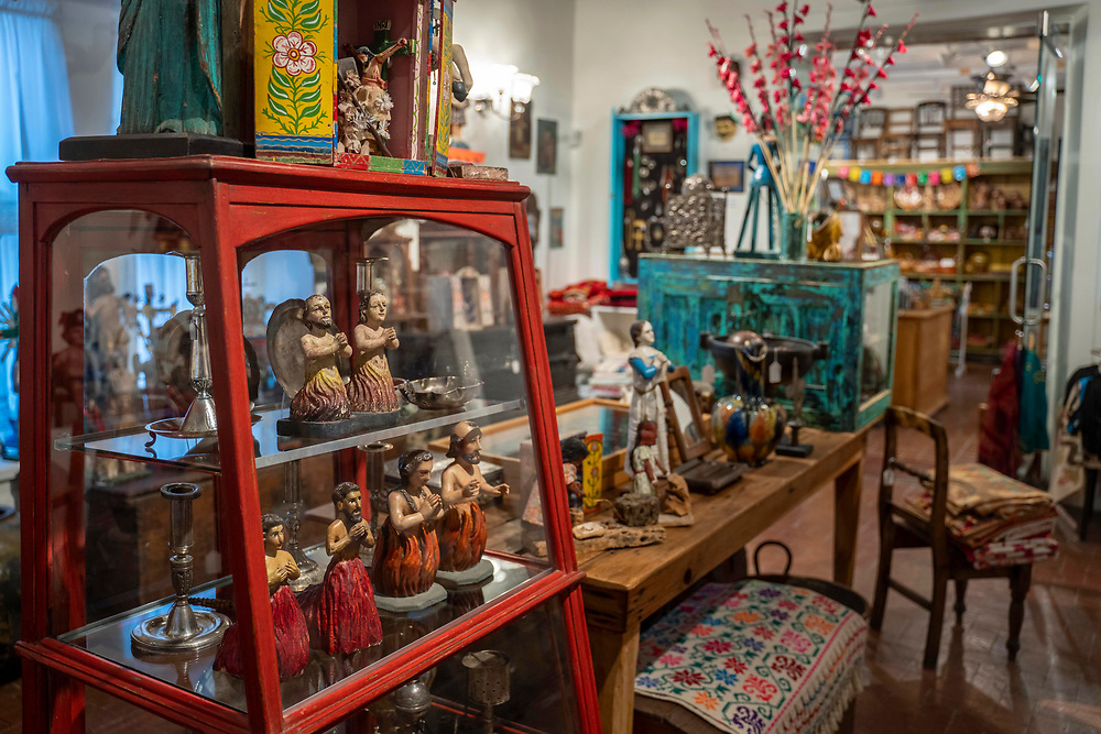 Detail inside Pachamama shop at Casa Perea Art Space in Corrales,