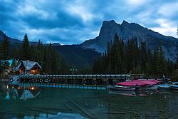 Dawn at Emerald Lake Lodge in Yoho National Park, British Columbia, Canada