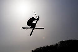 February 18, 2018 - Pyeongchang, SOUTH KOREA - 180218 An Athlete during the warm up ahead of the Men's Slopestyle Qualification during day nine of the 2018 Winter Olympics on February 18, 2018 in Pyeongchang..Photo: Petter Arvidson / BILDBYRÃ…N / kod PA / 91979 (Credit Image: © Petter Arvidson/Bildbyran via ZUMA Press)