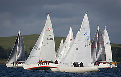 Largs Regatta Week 2017 <br /> <br /> Day 2, Class 3 round the Island, with IRL16010, Busy Beaver, Mark Bradshaw and  IRL953, Excalibur, Brian Young<br /> <br /> Picture Marc Turner