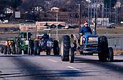 Striking farmers Tractorcade rolls into Georgia's capitol city of Atlanta, surrounding the Georgia state capitol.