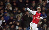 Photo: Paul Thomas.<br /> Blackburn Rovers v Arsenal. The Barclays Premiership. 13/01/2007.<br /> <br /> Theirry Henry of Arsenal celebrates his goal.