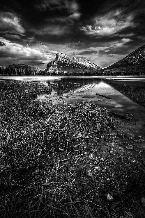 Mount Rundle from the Vermilion Lakes in Banff