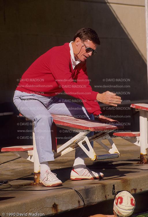 Richard Quick, Head Coach, Women's Swimming, Stanford University.  January 1990.