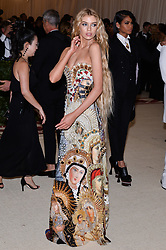 Stella Maxwell walking the red carpet at The Metropolitan Museum of Art Costume Institute Benefit celebrating the opening of Heavenly Bodies : Fashion and the Catholic Imagination held at The Metropolitan Museum of Art  in New York, NY, on May 7, 2018. (Photo by Anthony Behar/Sipa USA)