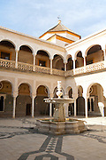 La Casa de Pilatos palace in Seville, Spain, home of Dukes of Medinaceli in Renaissance Italian and Mudéjar Spanish styles considered as the prototype of the Andalusian palace.