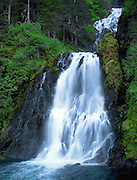 Waterfall in Red Bluff Bay at Baranof Island Alaska