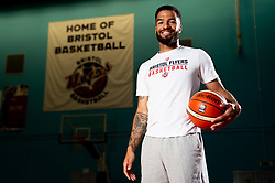 Lewis Champions poses for portraits as he renews his contract for Bristol Flyers ahead of the 2019/20 Season - Ryan Hiscott/JMP - 22/05/2019 - SPORT - SGS Arena - Bristol, England - Lewis Champion Bristol Flyers Contract Renewal