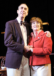 Life After Scandal<br /> by Robin Soans<br /> at the Hampstead Theatre, London, Great Britain<br /> press photocall<br /> 21st September 2007<br /> <br /> Michael Mears (as Neil Hamilton) and Caroline Quentin (as Christine Hamilton)<br /> <br /> Photograph by Elliott Franks