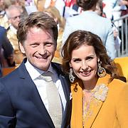 NLD/Tilburg/20170427- Koningsdag 2017, Pieter-Christiaan en partner Anita van Eijk