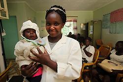 Unnamed staff member.  SAHFA baseline survey visit to the MMS Angiya Clinic., Homa Bay County, Kenya.  SAHFA Kenya © April 2019