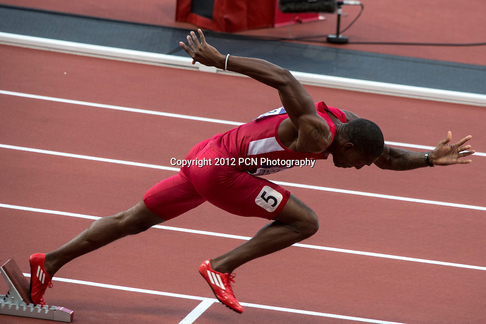 Michael Tinsley (USA) competing in the 400 meter hurdles semifinal at the Olympic Summer Games, London 2012