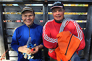 Jon A. Mortensson og Lars Ivar Danielsen from Elgå are participating when it is slaughtering season at their neighbours in Gåbrien Sijte, Brekken in Mid-Norway.