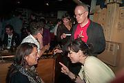 YTO BARRADA; HANS-ULRICH OBRIST;  Yto Barrada opening. Pace London Soho. Lexington St. and afterwards at La Bodega Negra. Old Compton St. 23 May 2012.