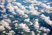 Broken cumulus cloud seen from above looking down