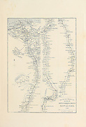 Map of Egypt and Nubia from The Holy Land : Syria, Idumea, Arabia, Egypt & Nubia by Roberts, David, (1796-1864) Engraved by Louis Haghe. Volumes 5 and 6. Book Published in 1855 by D. Appleton & Co., 346 & 348 Broadway in New York.