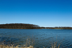 04 April 2015:   Spring at Dawson Lake located in Moraine View State Park maintained by the Illinois Department of Natural Resources (IDNR) near Le Roy Illinois before the trees leaf out.