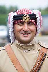Major Mohammad Bassim. The Jordian calvary at their stables in Tower Farm, Liberton, Edinburgh