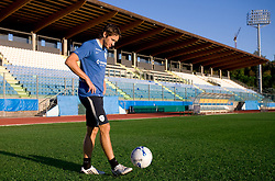 Andrej Komac of Slovenian football national team  at practice a day before 2010 FIFA Qualification match between San Marino and Slovenia, on October 13, 2009, in Serravalle Stadium, San Marino.  (Photo by Vid Ponikvar / Sportida)