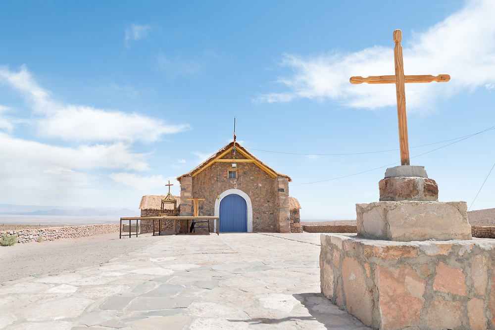 The church of a small village named Cupo in the middle of Atacama desert in northern Chile.