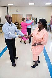 Older couples at a tea dance,
