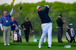 May 16, 2019 - Farmingdale, NY, U.S. - FARMINGDALE, NY - MAY 16: Shane Lowry of Ireland plays his shot from the first tee during Round One of the PGA Championship Tournament on May 16, 2019, at Bethpage State Park in Farmingdale, NY (Photo by John Jones/Icon Sportswire) (Credit Image: © John Jones/Icon SMI via ZUMA Press)
