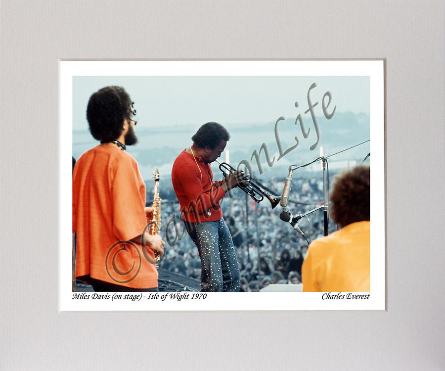 Miles Davis (on stage) MCP1210-CLFE-027 / CLMA-017