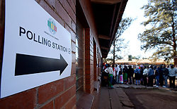 30/07/2018:Zimbabwe,Harare.The community of Kuwadzana 2 primary in Harare came out in numbers cast their vote. A sign on the wall points to where voters need to cast their votes.132<br /> Picture: Matthews Baloyi/African News Agency (ANA)