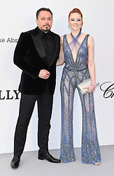Barbara Meier and Klemens Hallmann attending the 26th amfAR Gala held at Hotel du Cap-Eden-Roc during the 72nd Cannes Film Festival. Picture credit should read: Doug Peters/EMPICS
