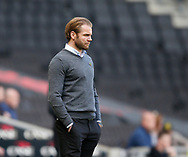 Robbie Neilson manager of MK Dons during the English League One match at  Stadium MK, Milton Keynes. Picture date: April 22nd 2017. Pic credit should read: Simon Bellis/Sportimage