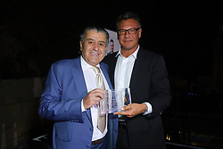 Haim Saban, left, and Walter Kolm at Creative Community For Peace 2nd Annual 'Ambassadors Of Peace' Gala held at Los Angeles on September 26, 2019 in Private Residence, California, United States (Photo by © Jc Olivera/VipEventPhotography.com
