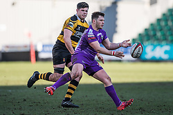 Ebbw Vale's Dai Langdon in action - Mandatory by-line: Craig Thomas/Replay images - 04/02/2018 - RUGBY - Rodney Parade - Newport, Wales - Newport v Ebbw Vale - Principality Premiership