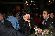 Christianne Amanpour and James Rubin, A A Gill party to celebrate the  publication of Table Talk, a collection of his reviews. Hosted by Marco Pierre White at <br />Luciano, 72 St James's Street, London,. 22 October 2007, -DO NOT ARCHIVE-© Copyright Photograph by Dafydd Jones. 248 Clapham Rd. London SW9 0PZ. Tel 0207 820 0771. www.dafjones.com.