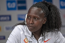 March 1, 2019 - Tokyo, Tokyo, Japan - Kenya's Florence Kiplagat speaks during a press conference ahead of the Tokyo Marathon in Tokyo on March 1, 2019. The annual Tokyo Marathon will be held on March 3. (Credit Image: © Alessandro Di Ciommo/NurPhoto via ZUMA Press)