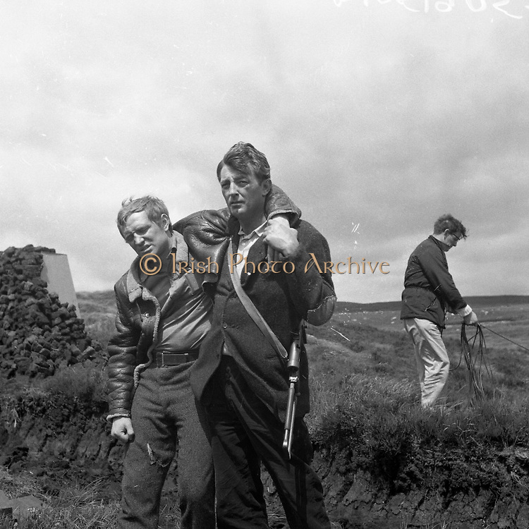 Filming at Sally Gap, Co. Wicklow - Robert Mitchum and Richard Harris . 'The Night Fighters'.12/07/1959 September 1984