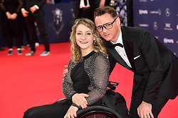February 18, 2019 - Monaco, Monaco - Kristina Vogel and Michael Seidenbecher arriving at the 2019 Laureus World Sports Awards on February 18, 2019 in Monaco  (Credit Image: © Famous/Ace Pictures via ZUMA Press)