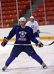 Ales Kranjc at morning practice of Slovenian national team before match against Canada at Hockey IIHF WC 2008 in Halifax,  on May 02, 2008 in Metro Center, Halifax, Canada.  (Photo by Vid Ponikvar / Sportal Images)
