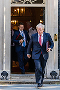 Prime Minister Boris Johnson, leaves Number Ten in Downing Street on Tuesday, 21 July 2020 – to attend a Cabinet meeting for the first time since the lockdown to be held at the Foreign and Commonwealth Office (FCO) in London. (VXP Photo/ Vudi Xhymshiti)