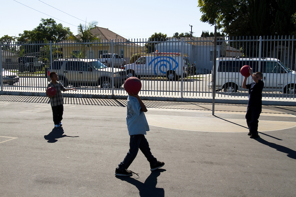 Students in Laurence Tan's 5th grade social studies at 122nd Street Elementary in Los Angeles, CA.