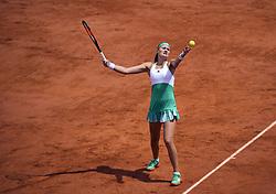 June 6, 2017 - Roland Garros Porte D Auteuil, France - 10e  journee :  Kristina Mladenovic (Credit Image: © Panoramic via ZUMA Press)